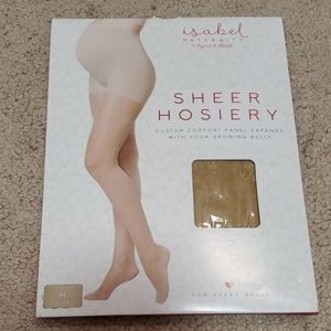 Isabel Maternity sheer hosiery size Small